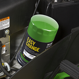 Easy-to-service engine oil filter