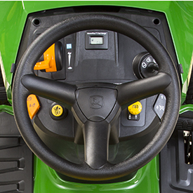 Steering wheel and dash, S130 shown