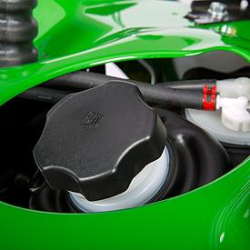 Convenient fuel-filler opening