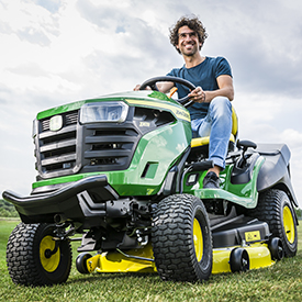 X167R Tractor mowing
