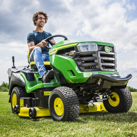 X167R with 107-cm (42-in.) Mower Deck
