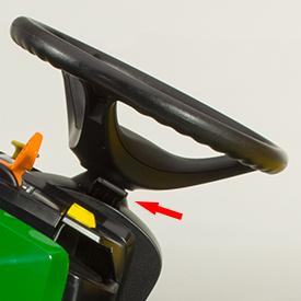 Tilt steering wheel control lever