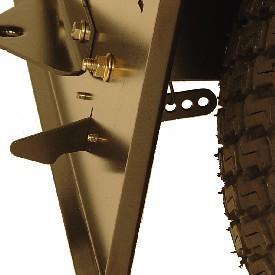 Adjustable hopper latch