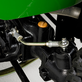 Control arm increases front-wheel speed in turns