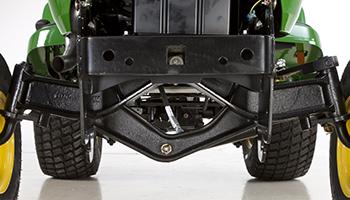 Heavy-duty cast-iron front axle (2WD shown)