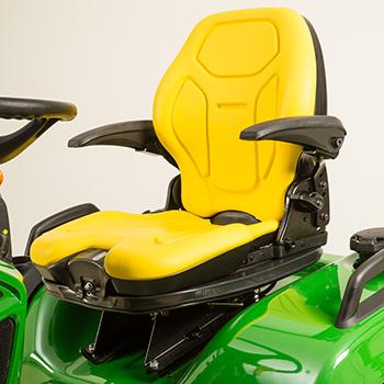 Optional air-ride suspension seat