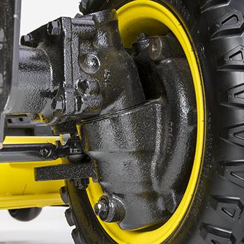 Front-wheel drop-axle