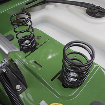 Seat springs in rearward position