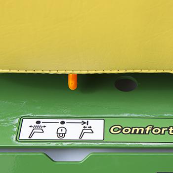 ComfortGlide™ suspension control lever
