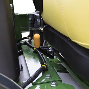 Seat slide fore/aft adjustment lever