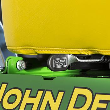 Seat slide fore/aft adjustment lever and ComfortGlide lockout lever