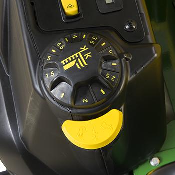 Mower deck cut-height adjustment dial