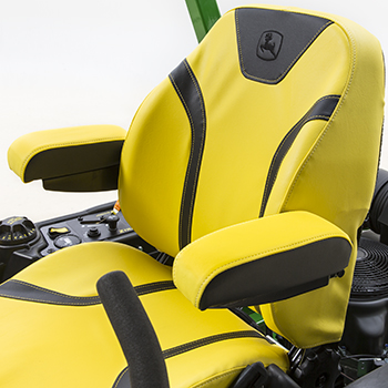 Z740R seat shown with padded armrest attachment