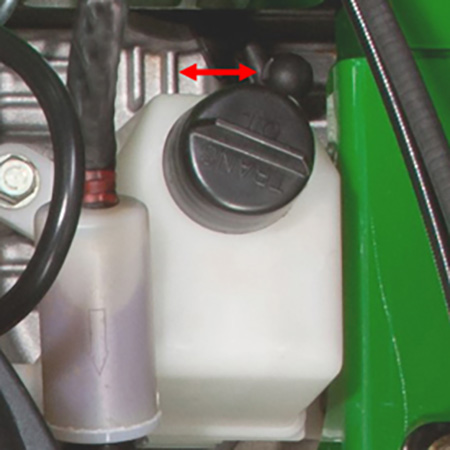Tow valve control lever