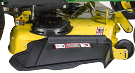 Right side of Accel Deep 54A Mower Deck