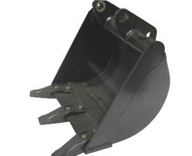 406-mm (16-in.) bucket shown