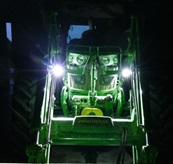 Front loader lights