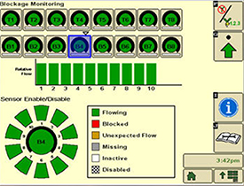 Blockage monitoring screen on GreenStar™ 3 2630