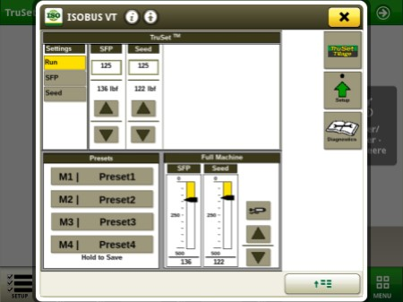 TruSet screen on Gen 4 display for N500F