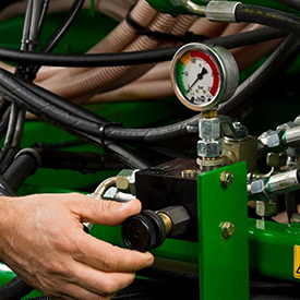 Active hydraulic down pressure system