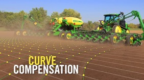 Utilize curve compensation when planting