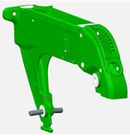Ductile iron-cast shank