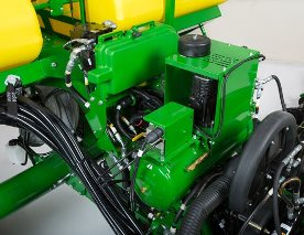 Active pneumatic downforce compressor and ExactEmerge alternator located in front of CCS tanks