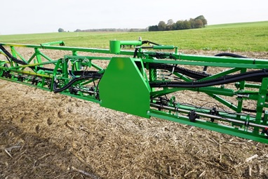 Use TerrainCommand Pro spray boom automation even with reduced boom width