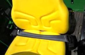 Adjustable seat with seat belt