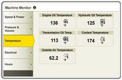 Machine Monitor page