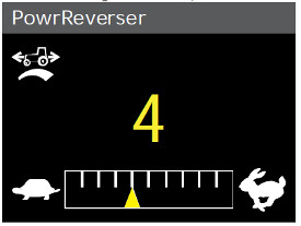 PowrReverser modulation settings in cornerpost display