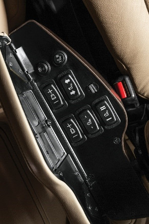 ActiveSeat II left armrest controls