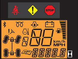 Digital instrument display (fuel not on 560E models)