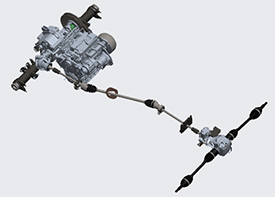 Transaxle and MFWD