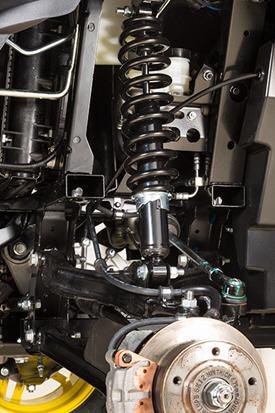XUV front suspension detail