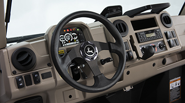 Heating, ventilation, and air conditioning (HVAC) dash shown