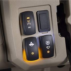 Differential lock and 4WD switches