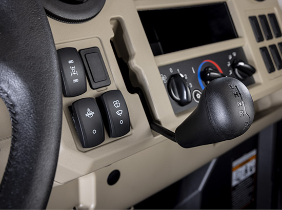 Gear shift control with differential lock and 4WD switches (R Trim)