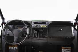 In-dash cup holders and sealed glove box