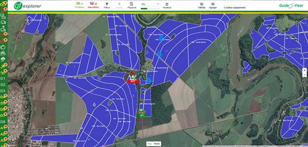 Rastreamento em formato Mapa