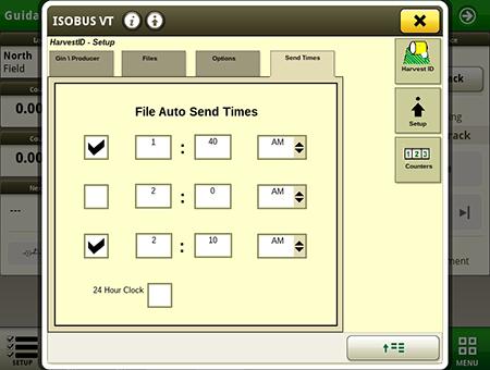 Envio automático de arquivos através da aba de configuração