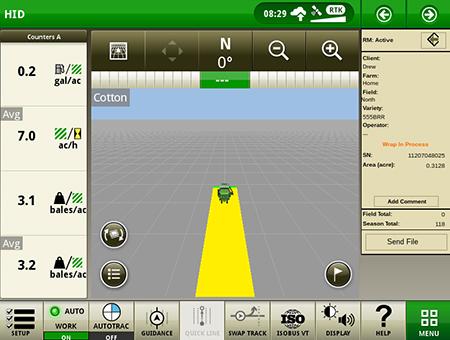 O botão Enviar Arquivos permite aos operadores compartilhar informações