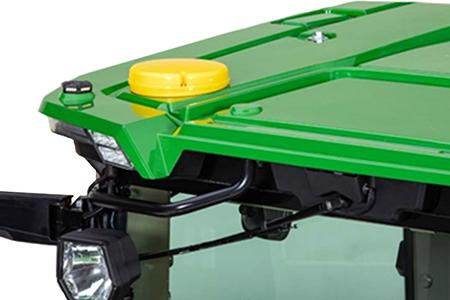 Récepteur StarFire 6000 intégré sur le tracteur 8R