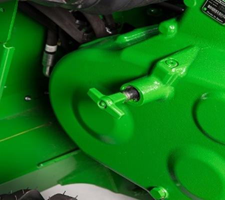 Changement de vitesse sans outils sur le boîtier d'engrenages