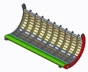Contre-batteur sectionnel avec pièces rapportées pour petites céréales