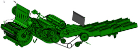 Concept de battage et de séparation de la sérieT