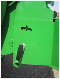 Réglage de l'angle du panneau de rabattement arrière