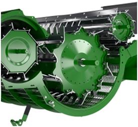 Séparateur extra large et grille tangentielle dynamique
