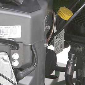 Tube de remplissage de l'huile moteur, filtre et point de vidange