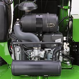 Compartiment moteur ouvert